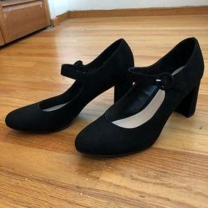 XAppeal Camelia Black Block Heel Shoe
